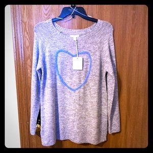 LC Lauren Conrad Heart Sweater NWT Small